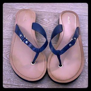Aldo Navy Flip-flops